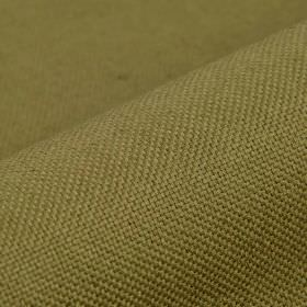 Break - Dark Brown (14) - Unpatterned fabric made from a khaki coloured blend of linen and polyester