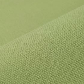 Break - Celadon - Light apple green coloured linen and polyester blended together into a plain fabric