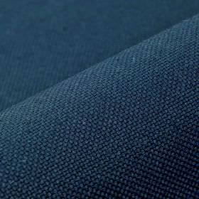 Break - Navy Blue - Plain linen and polyester blend fabric made in a deep, rich navy blue colour