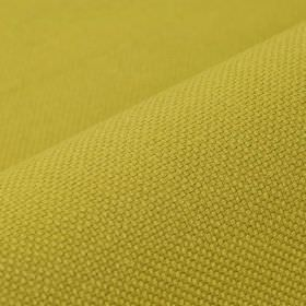 Break - Gold - Bright lime green coloured fabric made from a blend of linen and polyester
