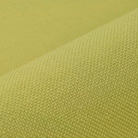 Break - Light Gold (27) - Fabric made from unpatterned, apple green coloured linen and polyester