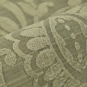 Cetus - Grey - Light grey very simple leaf designs finished with a slight texture on fabric made from several materials in mid-grey
