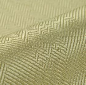 Ara - Cream - Irregular herrinbone style patterns covering light gold coloured cotton and viscose blend fabric