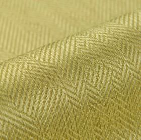 Ara - Gold - Gold coloured cotton and viscose blend fabric patterned with subtle, irregular herringbone designs