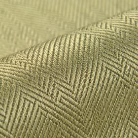 Ara - Dark Beige (4) - Dark grey herringbone patterns creating an irregular design over light gold cotton and viscose blend fabric