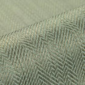 Ara - Grey - Two very similar shades of grey making up a subtle, irregular herringbone pattern on fabric made from cotton and viscose