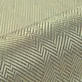 Ara - Light Grey (6) - Pewter coloured cotton and viscose blend fabric patterned with irregular herringbone designs in dark grey