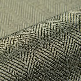 Ara - Dark Grey (7) - Dark silver and black herrinbone designs creating an irregular pattern over fabric containing a cotton and viscose ble