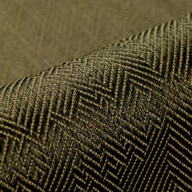 Ara - Brown - Very dark forest green coloured cotton and viscose blend fabric, with subtle, irregular herrinbone patterns in light green