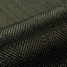 Ara - Dark Brown (10) - Very dark shades of grey and black making up a subtle irregular herringbone pattern on cotton and viscose blend fabr