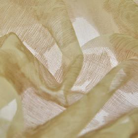 Kanty - Bruin (2) - Translucent 100% polyester fabric made in pale shades of white, green and brown