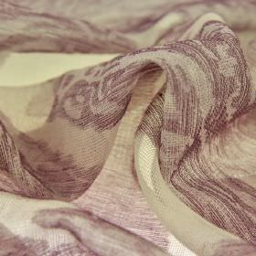 Kanty - Paars (3) - Aubergine and cream shades covering 100% polyester fabric made with a translucent finish