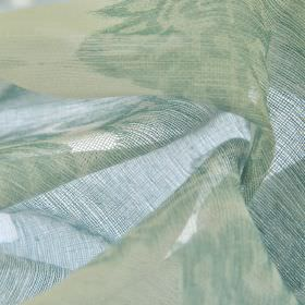 Kanty - Blauw (4) - Pale shades of blue, green and ivory creating a translucent pattern on fabric made from 100% polyester