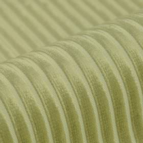 Balti - Crème - Striped polyester and viscose blend fabric featuring a raised, textured pale green design on an even paler background