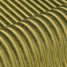Balti - Groen Goud - Polyester and viscose blend fabric in light green, with a regular, raised, textured stripe design in dark dusky green