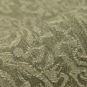 Masai - Beige (2) - Linen, polyester and viscose blend fabric covered with abstract patterns in two very similar shades of mid-grey