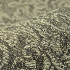 Masai - Grijs (3) - Abstract patterns created in light and dark shades of grey on fabric made from a blend of linen, polyester and viscose