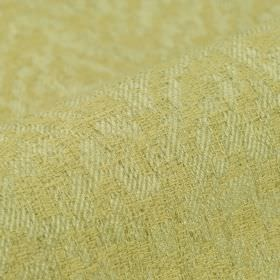 Rendille - Crème (1) - Very subtly patterned cream and pale green coloured linen, polyester and viscose blend fabric