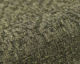 Rendille - Bruin Grijs - Linen, polyester and viscose blend fabric covered with a cream-grey and dark grey coloured abstract shape pattern
