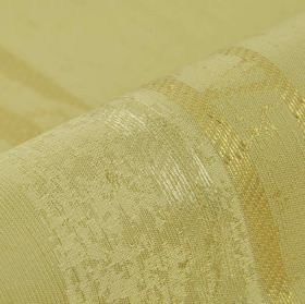 Astato 300cm - Gold Beige - Irregular, patchy stripes running down polyester and viscose blend fabric in three very similar pale shades of g