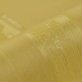 Astato 300cm - Gold Yellow - Various shades of gold making up a patchily coloured stripe design on fabric containing a blend of polyester an
