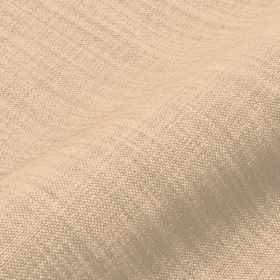 Prino - Beige (1) - Plain cream coloured linen, polyamide and viscose blend fabric featuring a few very pale grey coloured threads