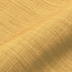 Prino - Yellow1 - Honey coloured linen, polyamide and viscose blend fabric featuring a few areas with light grey-brown threads