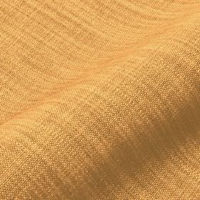 Prino - Yellow (9) - Fabric woven from linen, polyamide and viscose threads in golden yellow and warm orange-brown colours