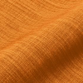 Prino - Orange (12) - Fabric made from bright orange linen, polyamide and viscose, streaked with some threads in a lighter shade of orange