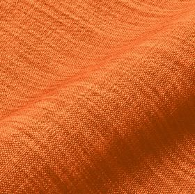 Prino - Orange5 - Bright orange linen, polyamide and viscose blend fabric featuring a few areas using threads in a slightly lighter colour