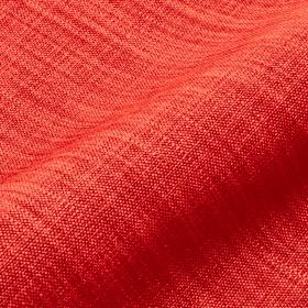Prino - Red3 - Bright red linen, polyamide and viscose blend fabric featuring a few lighter coloured threads