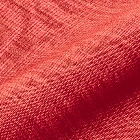 Prino - Red4 - Some creamy pink coloured threads running through a rich ruby coloured fabric made from linen, polyamide and viscose