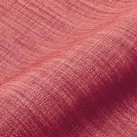 Prino - Pink (21) - Linen, polyamide and viscose blend fabric woven using dusky red and salmon pink coloured threads