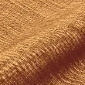 Prino - Brown5 - Fabric made from linen, polyamide and viscose with streaks of light orange and golden brown but no pattern