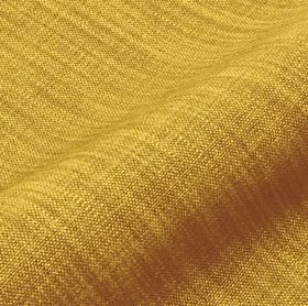 Prino - Green Yellow (36) - Bright golden yellow coloured linen, polyamide and viscose blend fabric, covered with streaks in light brown-gre
