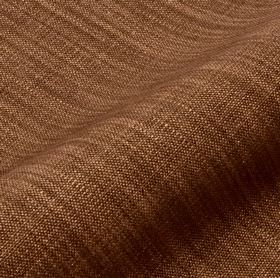 Prino - Brown (56) - Threads made from linen, polyamide and viscose in chocolate and chestnut shades of brown woven into an unpatterned fabric