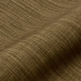Prino - Brown11 - Dark green-brown linen, polyamide and viscose blend fabric made with some lighter cream-brown coloured threads