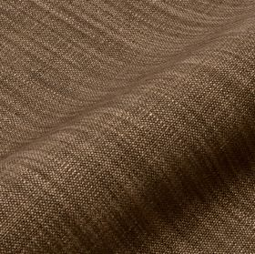 Prino - Brown (59) - Some light mocha coloured threads streaking across rich chocolate brown coloured linen, polyamide and viscose blend fabri