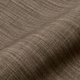 Prino - Brown13 - Dark grey and creamy beige threads woven together into a streaked effect on fabric made from linen, polyamide and viscose