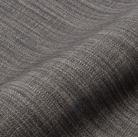 Prino - Grey Brown (61) - Fabric made from dark grey coloured linen, polyamide and viscose, streaked with threads in a lighter shade of grey