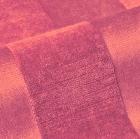 Stopera - Pink - Chilli red coloured cotton, modal and polyester blend fabric, featuring a simple, subtly textured stripe design