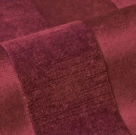 Stopera - Purple (12) - Luxurious, deep burgundy coloured textured stripes creating a sumptuous design on cotton, modal & polyester blend fa