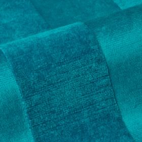 Stopera - Blue1 - Bright aquamarine coloured cotton, modal and polyester blend fabric, with a softly textured design of subtle stripes