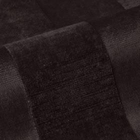 Stopera - Black (20) - Black cotton, modal and polyester blend fabric, featuring a subtle pattern of stripes finished with a soft texture