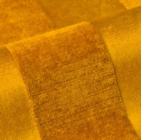 Stopera - Gold (6) - Cotton, modal and polyester blend fabric made with a softly textured stripe design in a warm saffron colour
