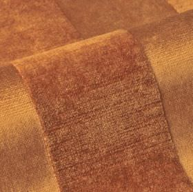 Stopera - Brown (7) - Rust coloured subtly textured stripes covering fabric blended from a combination of cotton, modal and polyester