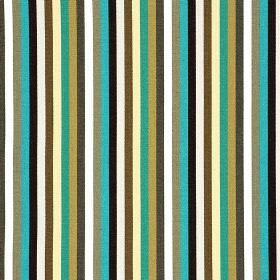 Lima CS - Teal (1) - A simple, regular vertical striped design on 100% Trevira CS fabric in grey, black, white, aqua blue and shades of gree