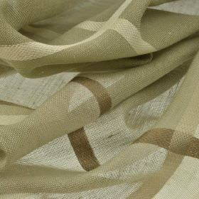 Espinar CS - Beige (4) - Light grey, beige and cream colours making up a very large checked pattern on fabric woven from 100% Trevira CS