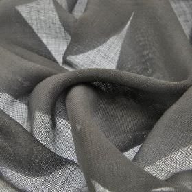 Locking CS - Dark Grey (15) - Plain gunmetal grey coloured 100% Trevira CS fabric