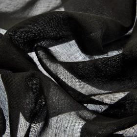 Locking CS - Black (16) - Plain 100% Trevira CS fabric made with a thin, almost translucent effect, in a jet black colour